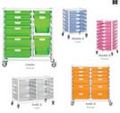 CERTWOOD Storsystem multistorage mobile tray carts.
