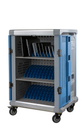charging cart inside view, storage and AC charge