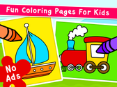 Kidlo Coloring Games for Kids | Preschool & Kindergarten App | Creativity Games | Fun Pages for Toddlers to Color